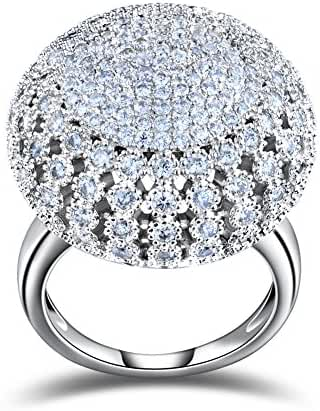 Orsa Jewels 218 Pieces 2mm Zircon Full Paved Round Shaped Vintage Ring