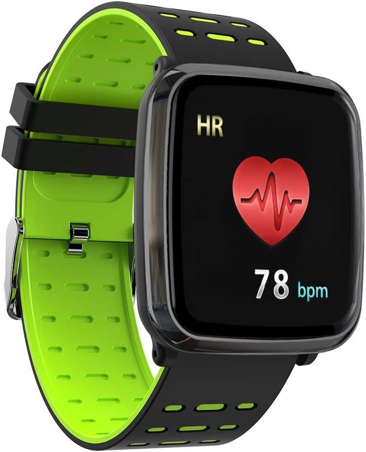 CJQHENG K2 - Pulsera inteligente con pantalla completa, ECG, presión arterial, presión arterial, ECG + PPG para ancianos, resistente al agua, para dormir, nadar