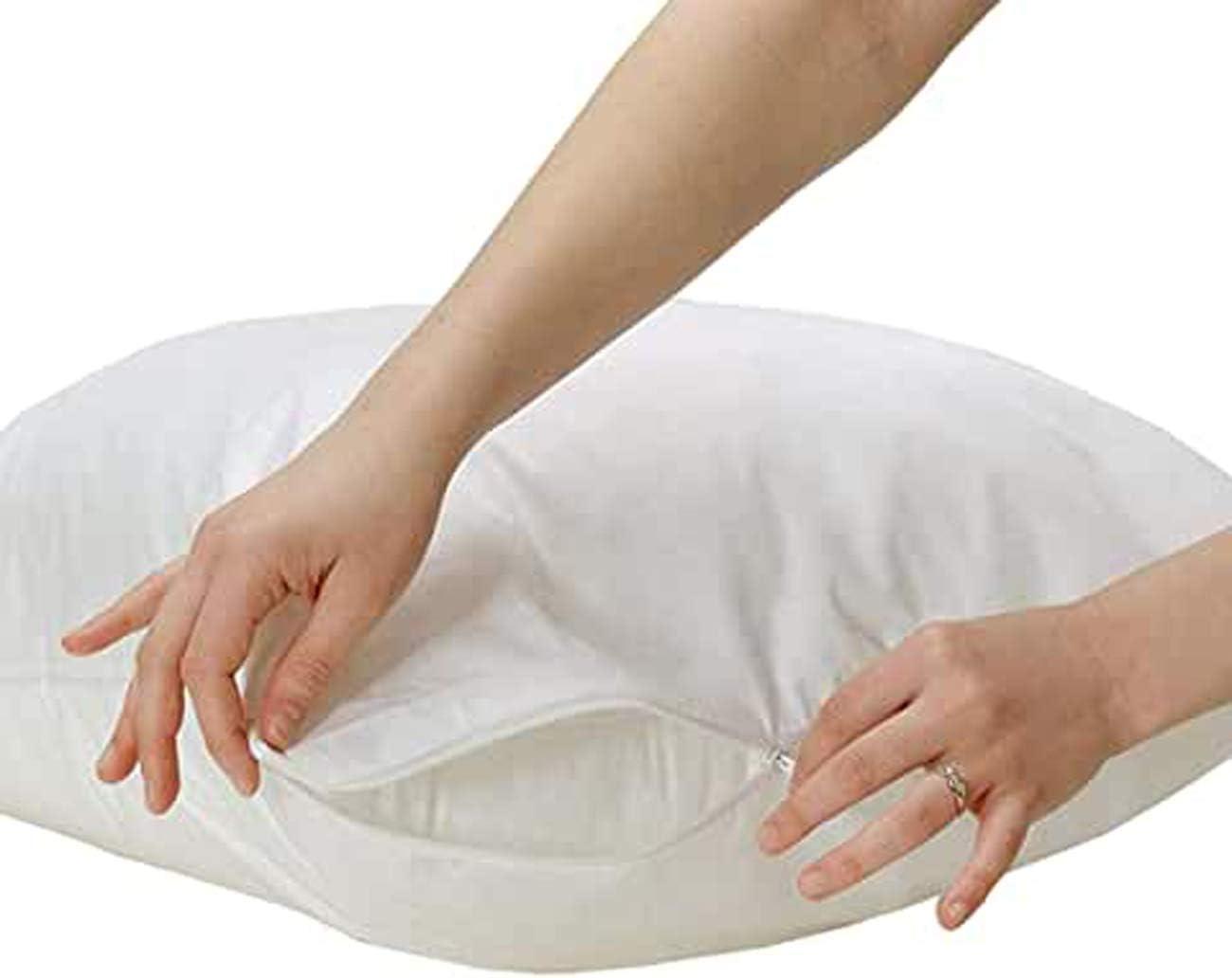 Protectores de almohada suave notebookbits - cierre de cremallera - lavable a máquina, Pack of 4 - Pillow Protectors: Amazon.es: Hogar