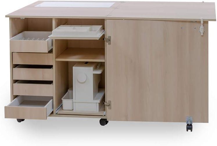 Comfort NEXT Oak Sorano Natural Light Armario de costura | Mueble para m/áquina de coser