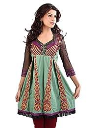 1545 Designs Women's Plus Size Grayish Bluish Color Tunic Top Dress