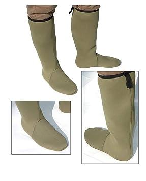 Calcetines de neopreno de 4 mm y de altura hasta la rodilla, verde, todos los tamaños: Amazon.es: Deportes y aire libre