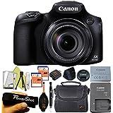 Canon Powershot SX60 16.1MP Digital Camera 65x Optical Zoom Lens 3-inch LCD Tilt Screen (Black) (Advanced Bundle)