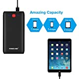 Poweradd Pilot X7 20000mAh Power Bank Dual USB Port External Battery Pack with LED Flashlight for iPhone 7, iPad Pro, Galaxy S8 and More - Black+Red