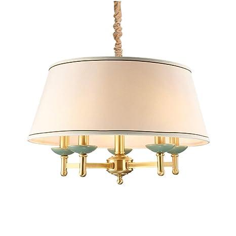 Amazon.com: Lámpara de tela clásica E12, lámpara colgante de ...