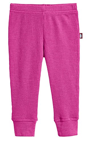 City Threads Baby Boys and Baby Girls Soft Cotton Thermal Cuffed Baby Newborn Infants Pants Joggers for Sensitive Skin or SPD Sensory Friendly Clothing, Hot Pink, 6/9 m