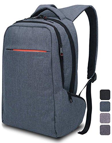Norsens Leichtgewichtiger Rucksack mit Fächern für bis zu 15,6-Zoll-Laptops/Notebook,Slim Rucksack grau-blau