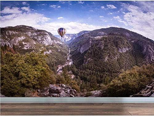 Clhhsy 剥離可能な3D壁画現代の自然風景山林雲壁紙壁画写真壁紙ソファテレビバックスプラッシュ風船壁壁画デカール-200X140Cm
