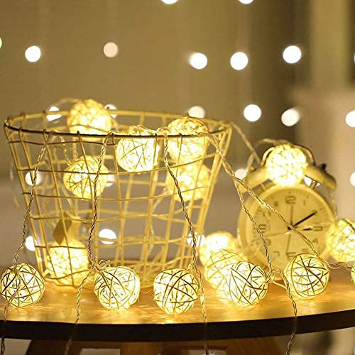 Outdoor Rattan Ball Lights in US - 8