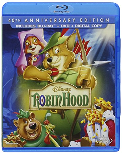 VHS : Robin Hood: 40th Anniversary Edition (Blu-ray + DVD + Digital Copy)