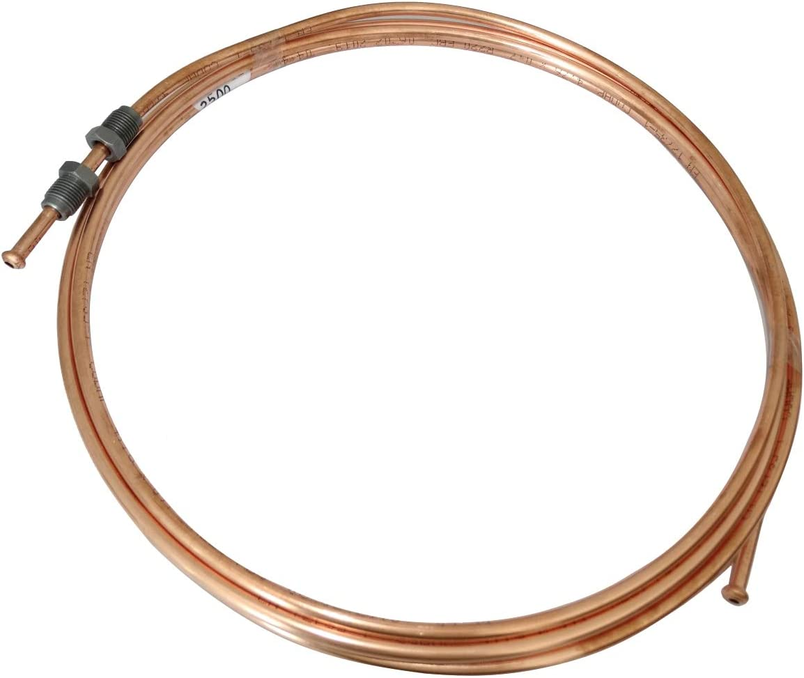 AERZETIX Tubo per freno in rame /Ø4.76mm con raccordi M12x1//M10x1 120cm