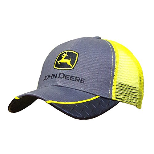 John Deere Construction Logo Diamond Plate Baseball Hat - One-Size - Men's