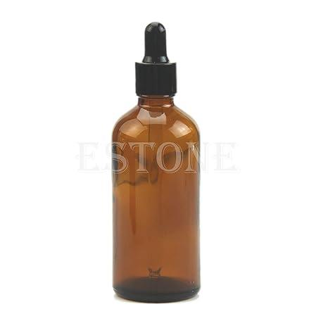 SimpleLife 100ml ámbar Vidrio líquido reactivo pipeta Botella Gota de Ojos aromaterapia