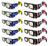 Bill Nye the Science Guy Safe Solar Paper Glasses – 10pk- ISO and CE Certified for the Safest Direct Solar Viewing- Perfect for Aug 21, 2017 Eclipse