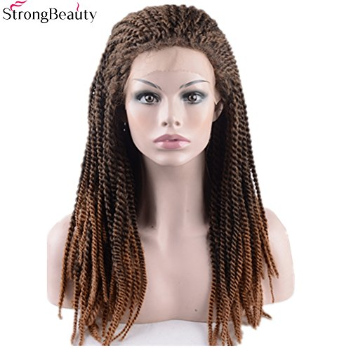 StrongBeauty Natural Senegalese Twist Hair Crochet Hair Braided Lace Front Wigs Natural (20