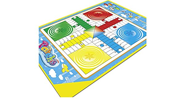 XTURNOS Alfombra Parchis 100x70 cm.: Amazon.es: Juguetes y juegos