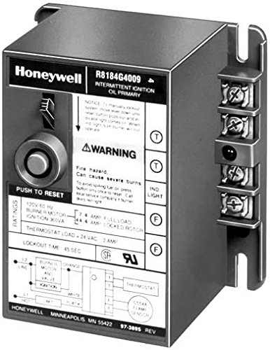Honeywell, Inc. R8184G4025 Protectorelay Oil Burner Control Intermittent Ignition 45 sec Safety Switch (Burner Switch Ignition)