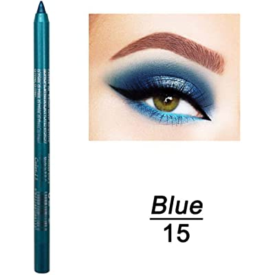 Olodui1 Nuevo maquillaje cosmético impermeable de larga duración para mujeres Eye Liner Delineadores