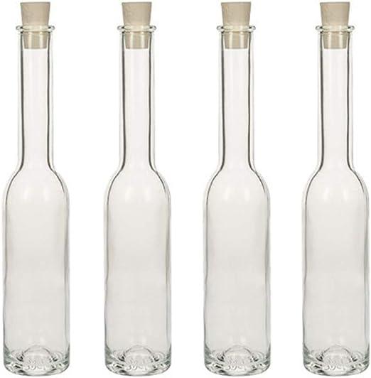 Botella de Aceite Capacidad 150 ml 6 Unidades tap/ón de Corcho hocz  Juego de Botellas de Cristal tap/ón de Corcho 6//8 // 10 Piezas