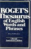 Roget's Thesaurus, Samuel R. Roget, 0517269341