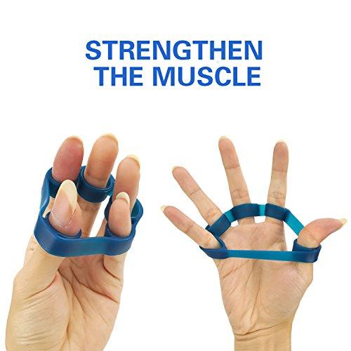 Jeicy Finger Stretcher, Finger Resistance Bands Finger Grip Exerciser Strengtheners Trainer