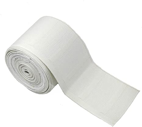MJMP Curtain Tape for Pinch Pleat 3.2 Inch Natural Cotton 6 Yards