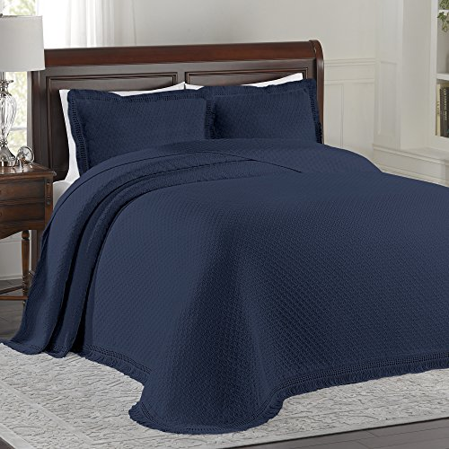 Lamont Limited Home Bedspread, Full, Blue,Woven Jacquard