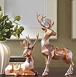 European style living room TV cabinet cabinet partition Home Furnishing deer gift zj01241036 ( Color : Golden )