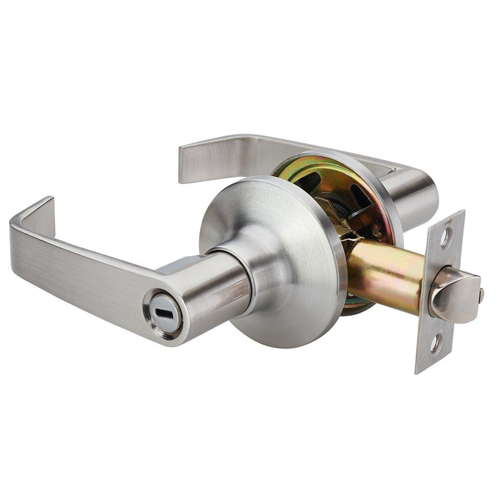 Door handle lock emtek cortina keyed lever