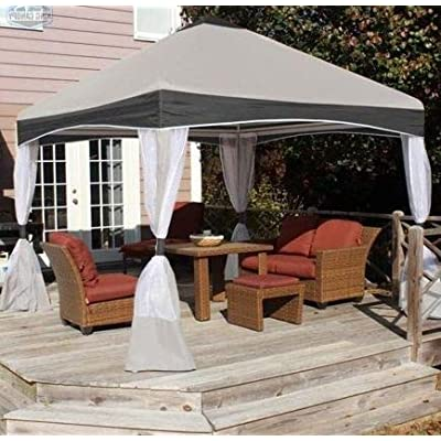 Jjoy- Patio Tents and Canopy Gazebo with Walls-10X10 Stone Garden Cover-Provide Cool Shade On Those Sweltering Summer Days : Garden & Outdoor