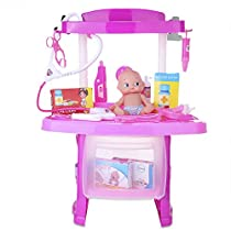 Robolife Pretend Play Toys Tools Kit for Kids Pink 3+