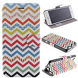LCJ Color Design Wave PU Leather Full Body Case with Card Slot for iPhone 6 Plus