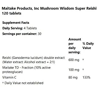 Amazon.com: Reishi Super + D Fraction Mushroom Wisdom (Formerly ...