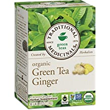 Traditional Medicinals Organic Green Tea Matcha With Toasted Rice, 16 Tea Bags (Pack of 6)