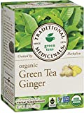 Traditional Medicinals Organic Green Tea Ginger, 16 Tea Bags (Pack of 6)