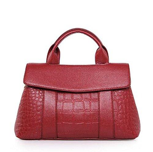 Mujer La Nueva Boston Europa Y Los Estados Unidos Bolsa Moda PU estampado Bolsas De Hombro Bolsos Bolsa Red