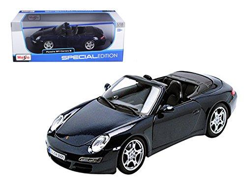 - Porsche 911 997 Carrera S Blue Cabriolet Special Edition 1/18 Diecast Model Car by Maisto 31126bl