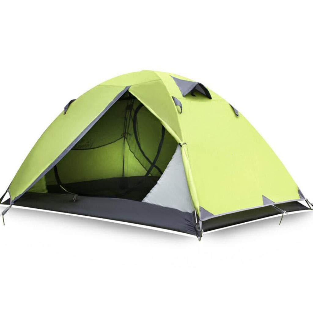 FEIYUESS Campingzelt, Outdoor-Ausrüstung wasserdicht 2-Personen-Zelt mit Aufbewahrungstasche einfach zu tragen (Farbe : Grün)