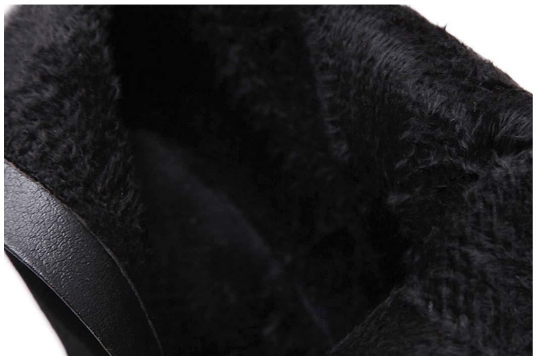 SHANGWU Damen Damen Super High Heel Plateau Stiefeletten Atmosphärische Feine Klassische Passende High Heel Short Klassische Feine Runde Kopf Martin Stiefelies Party Kleid Stiefel e6e249