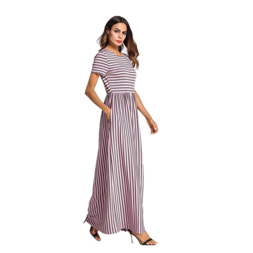 Yhjklm Elegante Vestido a Rayas de Punto para Mujer Vestido de Oriente Medio Túnica árabe cómodo (tamaño : XXXXL): Amazon.es: Hogar