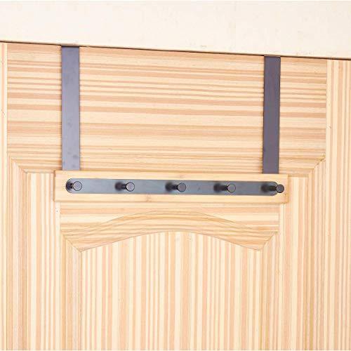 KeepTpeeK Over The Door Hook Hanger Organizer for Coats, Hats, Scarves, Purses, Leashes, Bath Towels & Robes Men and Women Clothing Rack 5 Hook by KeepTpeeK (Image #1)