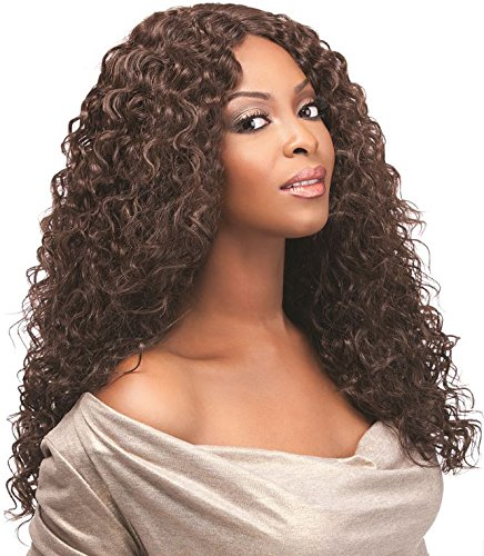 SENSATIONNEL 100% PREMIUM FIBER SYNTHETIC CUSTOM LACE FRONT WIG - ITALIAN CURL (Curl Lace Front Wig)