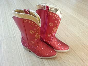 Disney Exclusive Toy Story 3 Red Sparkle Jessie Boots 11/12