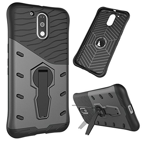 the latest 27d39 e9e80 Tarkan™ Moto G4 Play Back Case Cover: 360 Kickstand Sniper for Moto G Play  4th Gen. [Grey]
