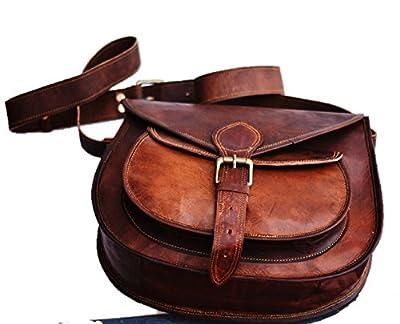 Handmade Women Vintage Style Genuine Brown Leather Cross Body Shoulder Bag Handmade Purse