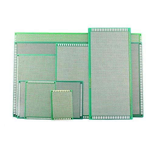 5枚入 ユニバーサル基板 実験プレート PCB回路基板 セットPCBボード プリント基板 (6cmX8cm)