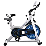 iDeer Exercise Bike Indoor Workout Cycling Bike, Height Adjustable Sport Stationary Bicycle with Heart Pulse Sensors & LCD Monitor, Max User Weight:280lbs,for Home Gym Cardio Exercise (White AUS09021)