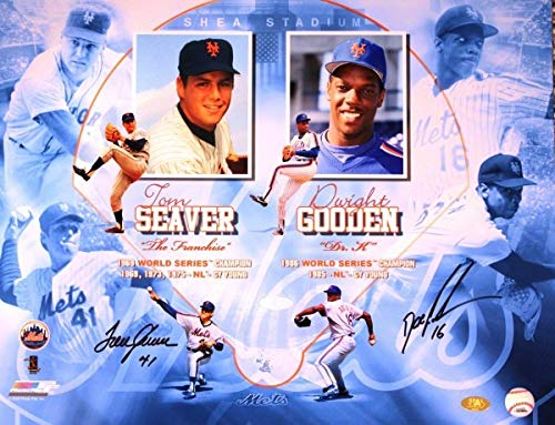 New York Mets 16x20 Photo - Autographed Signed Tom Seaver & Dwight Gooden New York Mets 16x20 Photo - Certified Authentic