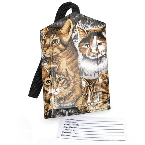 Broad Bay Cotton Cats Luggage Tag, Bags Central