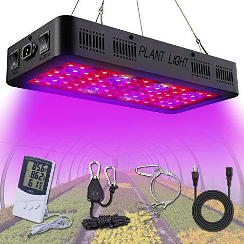 Golspark 900W LED Plant Grow Light,Full Spectrum Indoor Plant Light with Switch, IR&UV Growing Lamp Kits for Greenhouse Hydroponic Seedling Veg and Flower